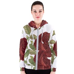 Rose 1077964 1280 Women s Zipper Hoodie by vintage2030