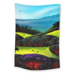 Morning Mist Large Tapestry by ValleyDreams