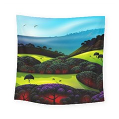 Morning Mist Square Tapestry (small) by ValleyDreams