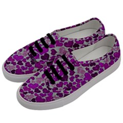Sparkling Hearts Purple Men s Classic Low Top Sneakers by MoreColorsinLife
