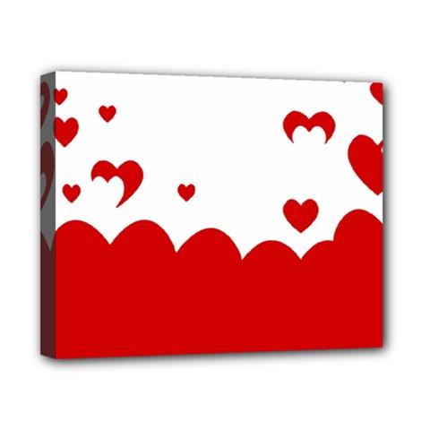 Heart Shape Background Love Canvas 10  X 8