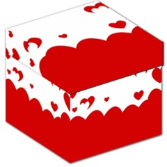 Heart Shape Background Love Storage Stool 12   by Nexatart
