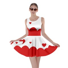 Heart Shape Background Love Skater Dress