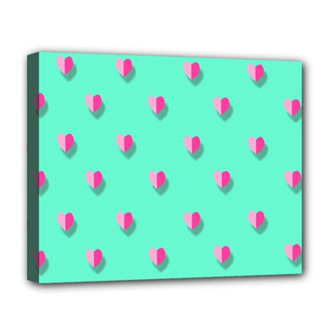 Love Heart Set Seamless Pattern Deluxe Canvas 20  X 16