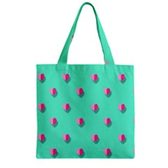 Love Heart Set Seamless Pattern Zipper Grocery Tote Bag by Nexatart