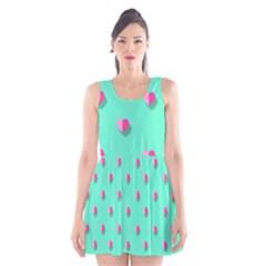 Love Heart Set Seamless Pattern Scoop Neck Skater Dress