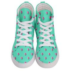 Love Heart Set Seamless Pattern Men s Hi Top Skate Sneakers