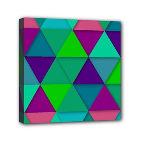 Background Geometric Triangle Canvas Travel Bag