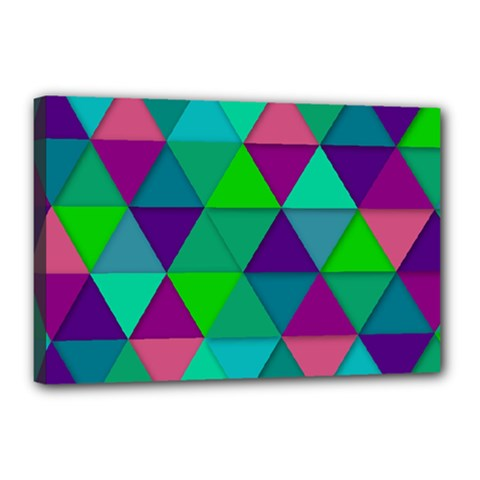 Background Geometric Triangle Canvas 18  X 12