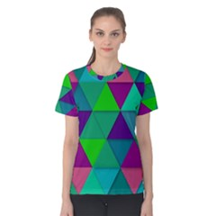 Background Geometric Triangle Women s Cotton Tee