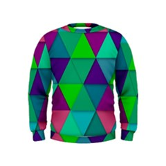 Background Geometric Triangle Kids  Sweatshirt