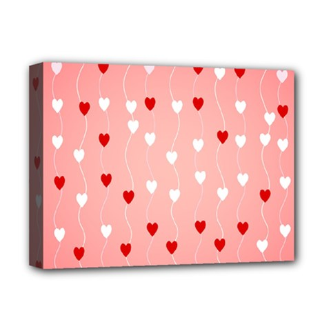 Heart Shape Background Love Deluxe Canvas 16  X 12