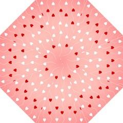 Heart Shape Background Love Hook Handle Umbrellas (medium)