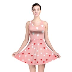 Heart Shape Background Love Reversible Skater Dress