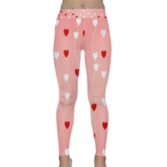 Heart Shape Background Love Classic Yoga Leggings