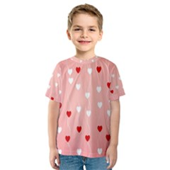Heart Shape Background Love Kids  Sport Mesh Tee