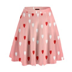 Heart Shape Background Love High Waist Skirt
