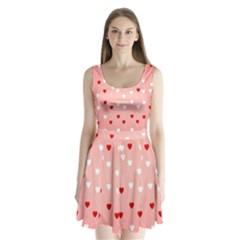 Heart Shape Background Love Split Back Mini Dress