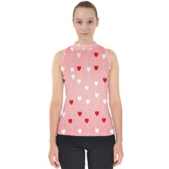 Heart Shape Background Love Shell Top