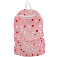Heart Shape Background Love Foldable Lightweight Backpack
