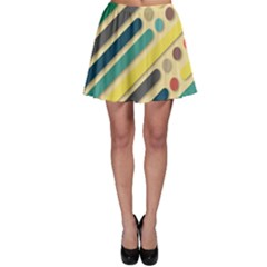 Background Vintage Desktop Color Skater Skirt