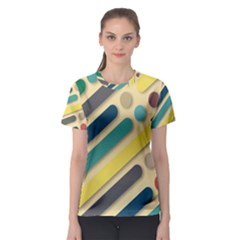 Background Vintage Desktop Color Women s Sport Mesh Tee