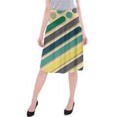 Background Vintage Desktop Color Midi Beach Skirt