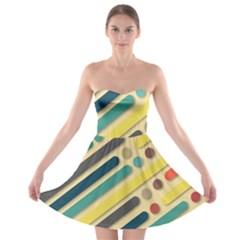 Background Vintage Desktop Color Strapless Bra Top Dress