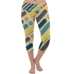 Background Vintage Desktop Color Capri Yoga Leggings