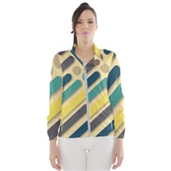 Background Vintage Desktop Color Wind Breaker (women)