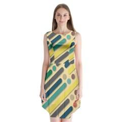 Background Vintage Desktop Color Sleeveless Chiffon Dress