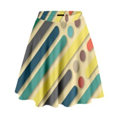 Background Vintage Desktop Color High Waist Skirt