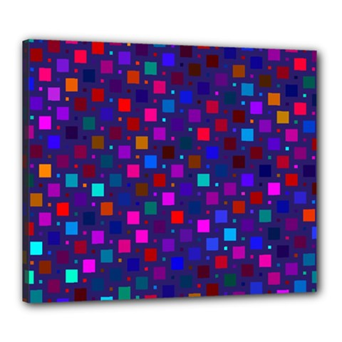 Squares Square Background Abstract Canvas 24  X 20  by Nexatart