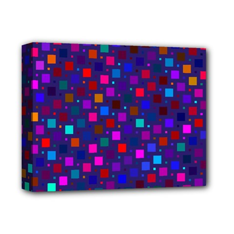 Squares Square Background Abstract Deluxe Canvas 14  X 11