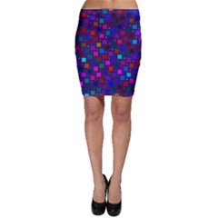 Squares Square Background Abstract Bodycon Skirt
