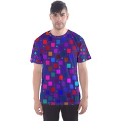 Squares Square Background Abstract Men s Sports Mesh Tee