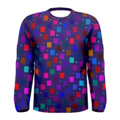 Squares Square Background Abstract Men s Long Sleeve Tee