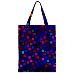 Squares Square Background Abstract Zipper Classic Tote Bag