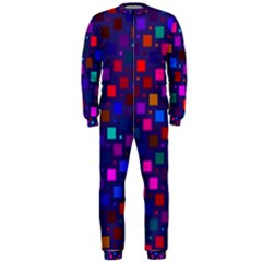 Squares Square Background Abstract Onepiece Jumpsuit (men)