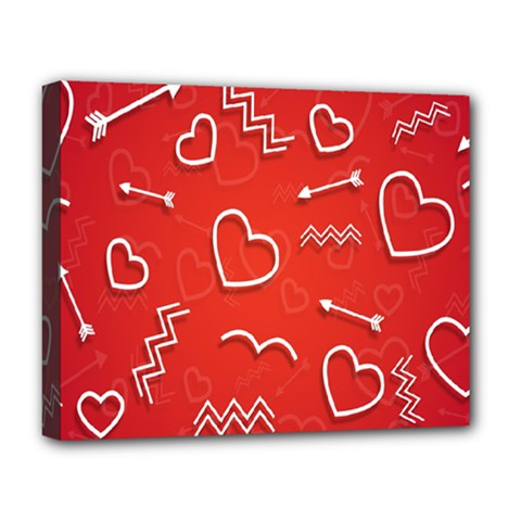 Background Valentine S Day Love Deluxe Canvas 20  X 16