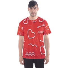 Background Valentine S Day Love Men s Sports Mesh Tee