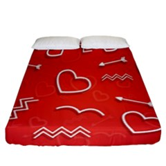 Background Valentine S Day Love Fitted Sheet (california King Size)