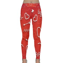 Background Valentine S Day Love Classic Yoga Leggings