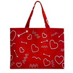 Background Valentine S Day Love Zipper Mini Tote Bag
