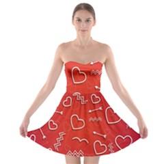 Background Valentine S Day Love Strapless Bra Top Dress