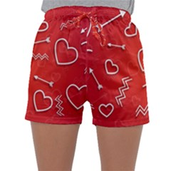 Background Valentine S Day Love Sleepwear Shorts