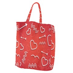 Background Valentine S Day Love Giant Grocery Zipper Tote by Nexatart