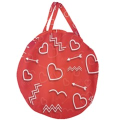 Background Valentine S Day Love Giant Round Zipper Tote by Nexatart