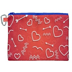 Background Valentine S Day Love Canvas Cosmetic Bag (xxl) by Nexatart