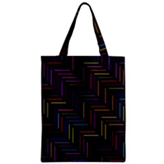Lines Line Background Zipper Classic Tote Bag